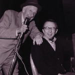 Jimmy Durante hams it up at Chelsea House.