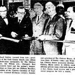 Richard Ogilvie, later to be Illinois Gov., cuts ribbon for Chelsea House opening June 29 1967