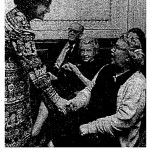 "Jane Muskie, wife of 1972 Presidential candidate Ed Muskie, greets Chelseans and defends her husband from Nixon's ""dirty tricks"""