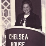 Unidentified speaker at Chelsea House - unless a reader can help us out?